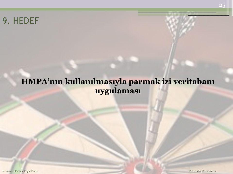 HMPA'nın kullanılmasıyla parmak izi veritabanı uygulaması