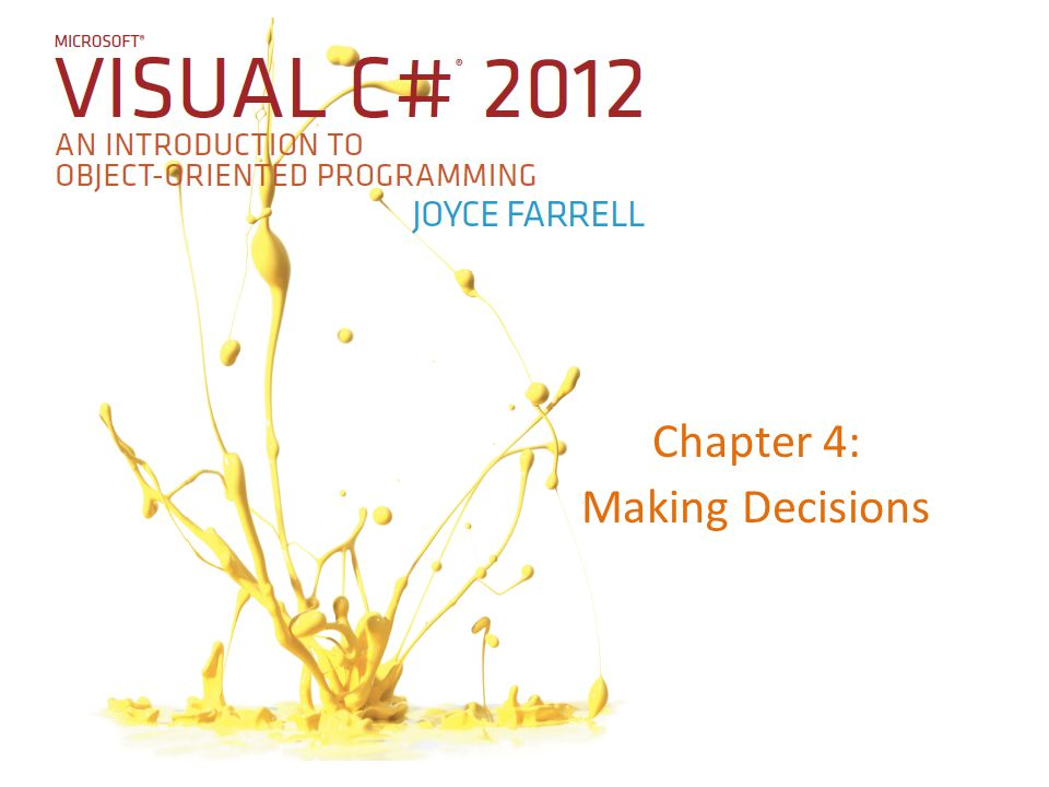 Chapter 4: Making Decisions