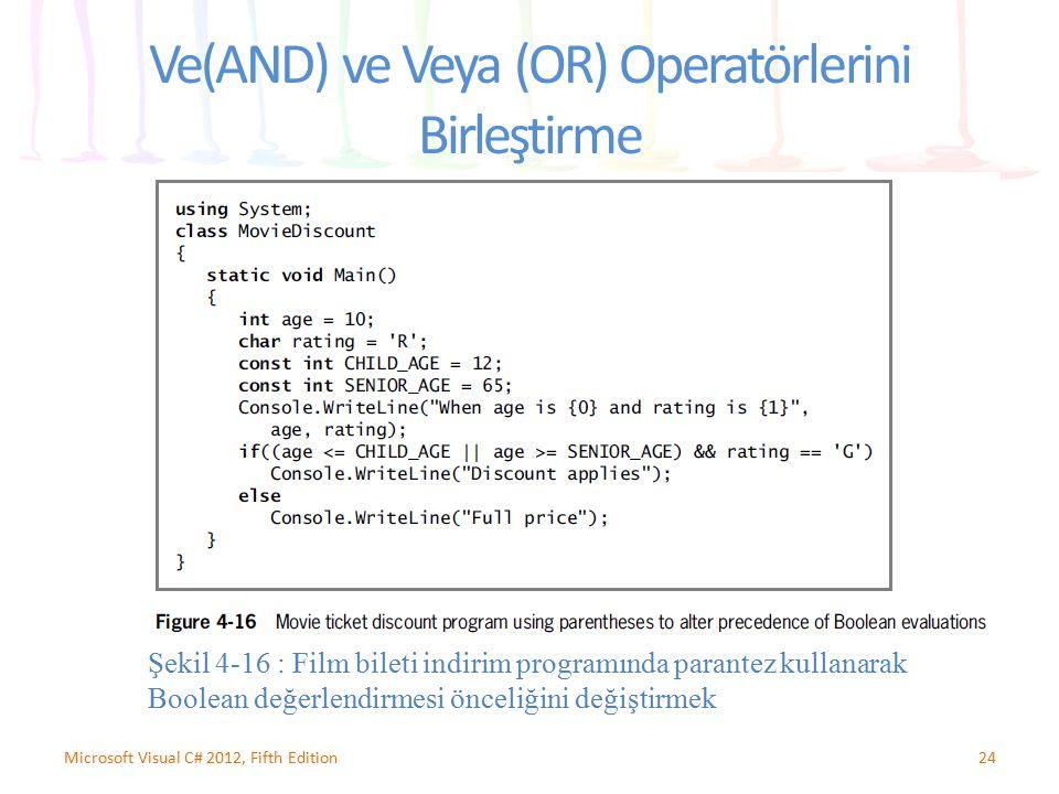 Ve(AND) ve Veya (OR) Operatörlerini Birleştirme