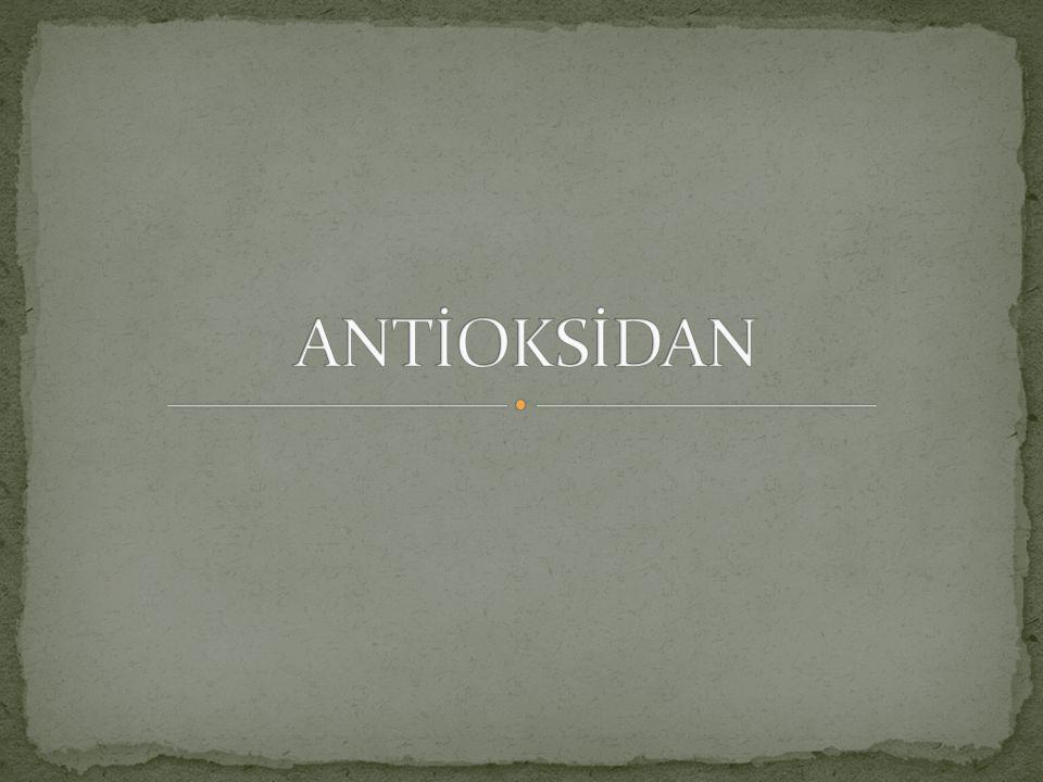 ANTİOKSİDAN