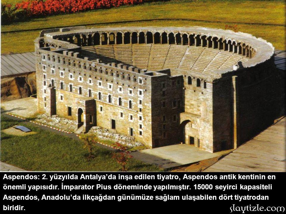 Aspendos: 2. yüzyılda Antalya'da inşa edilen tiyatro, Aspendos antik kentinin en önemli yapısıdır.