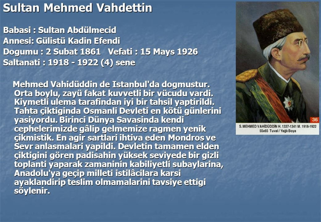 Sultan Mehmed Vahdettin