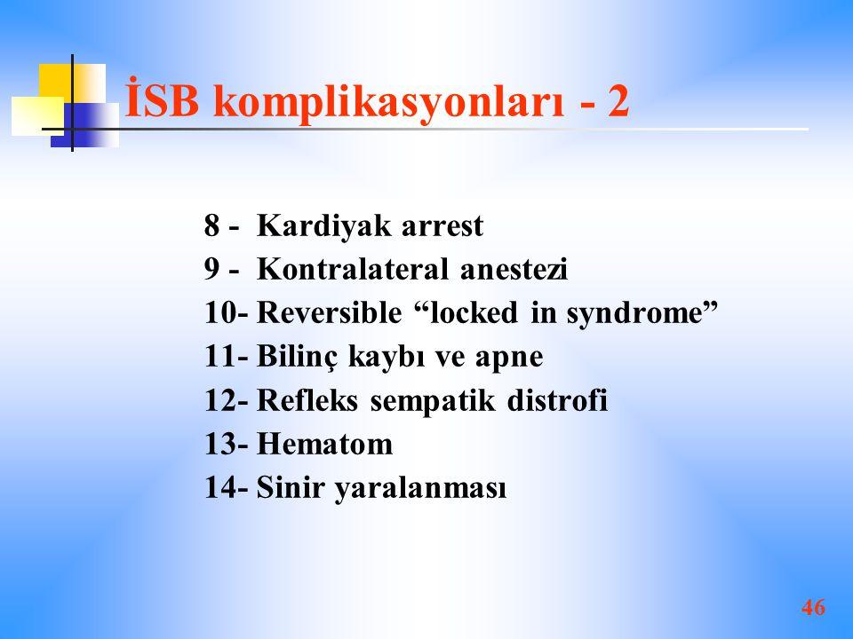 İSB komplikasyonları - 2