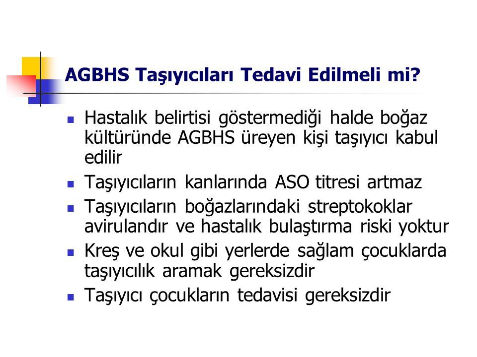 AGBHS Taşıyıcıları Tedavi Edilmeli mi