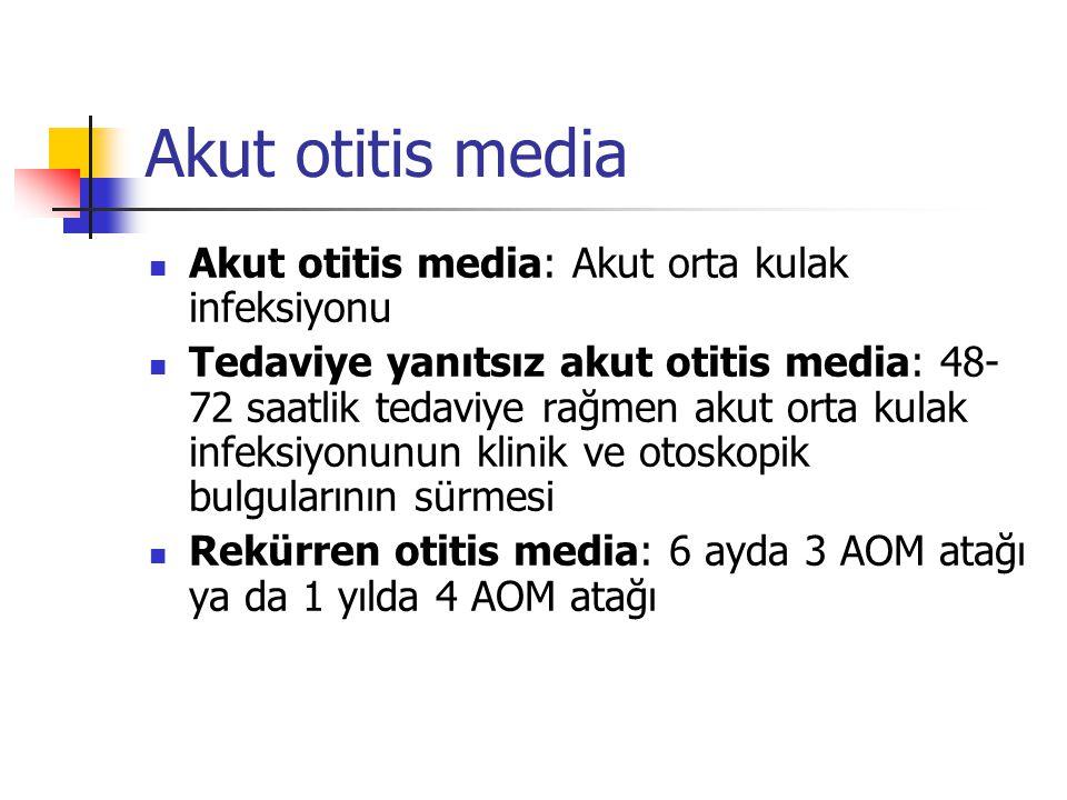 Akut otitis media Akut otitis media: Akut orta kulak infeksiyonu