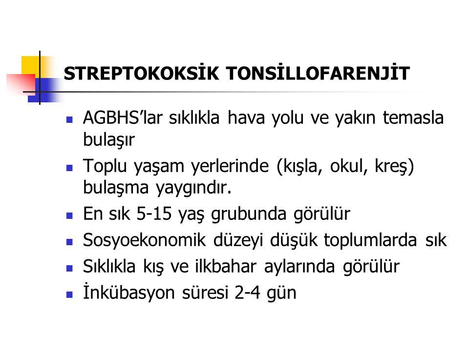 STREPTOKOKSİK TONSİLLOFARENJİT
