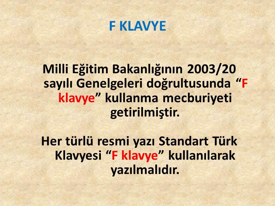 F KLAVYE