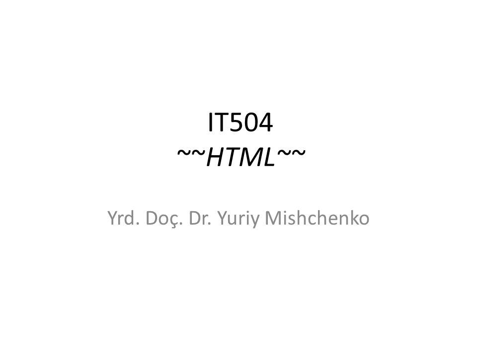 Yrd. Doç. Dr. Yuriy Mishchenko