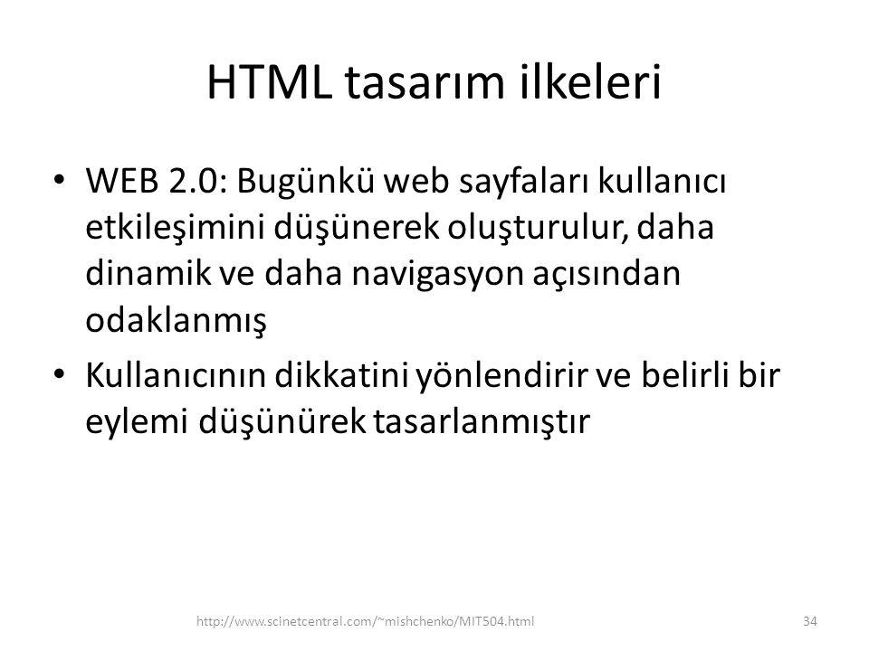 HTML tasarım ilkeleri