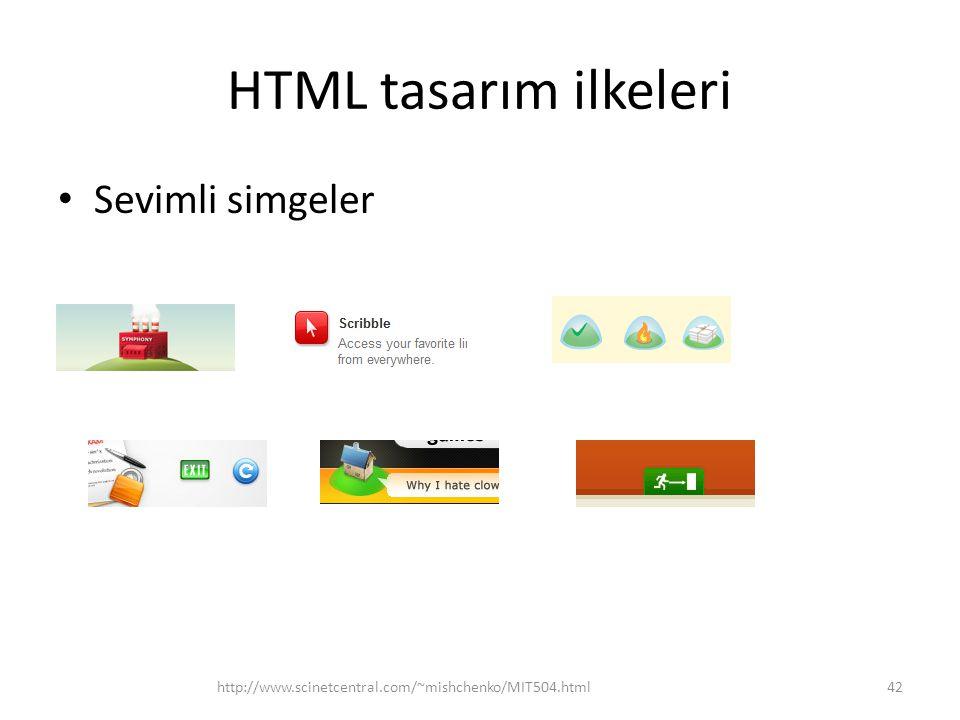 HTML tasarım ilkeleri Sevimli simgeler