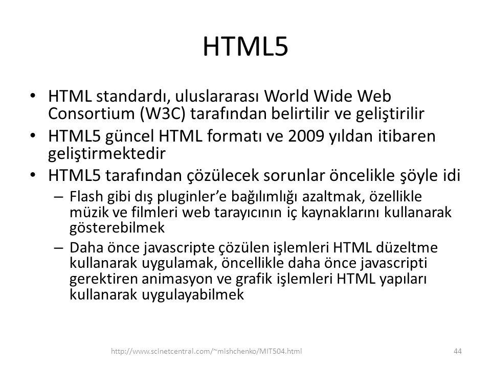 HTML5 HTML standardı, uluslararası World Wide Web Consortium (W3C) tarafından belirtilir ve geliştirilir.