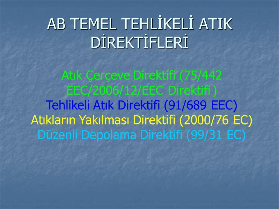 AB TEMEL TEHLİKELİ ATIK DİREKTİFLERİ