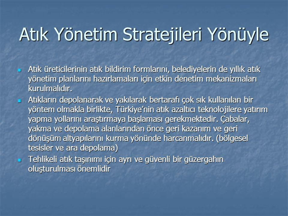 Atık Yönetim Stratejileri Yönüyle