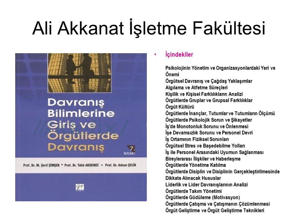 Ali Akkanat İşletme Fakültesi