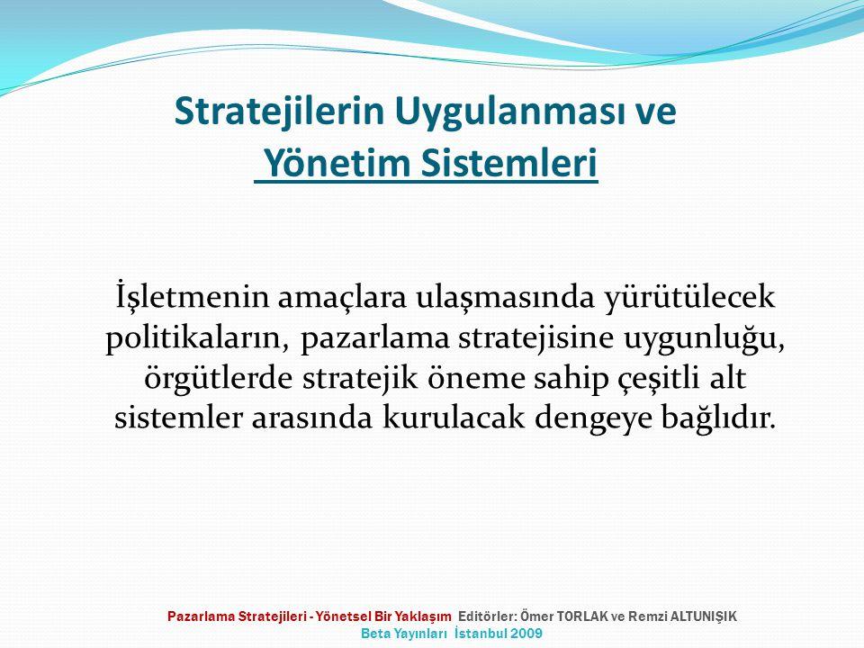 Stratejilerin Uygulanması ve Yönetim Sistemleri