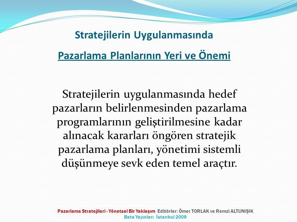 Stratejilerin Uygulanmasında Pazarlama Planlarının Yeri ve Önemi