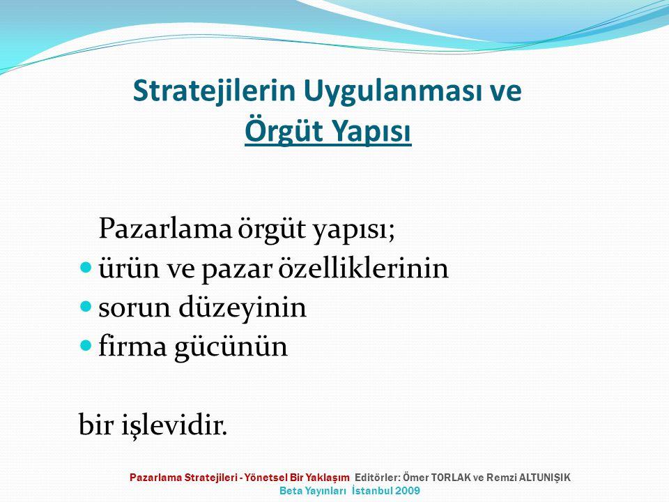 Stratejilerin Uygulanması ve Örgüt Yapısı