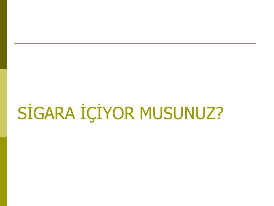 SİGARA İÇİYOR MUSUNUZ