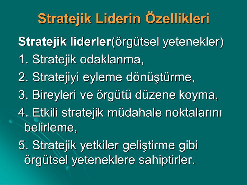 Stratejik Liderin Özellikleri