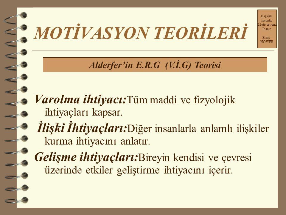 Alderfer'in E.R.G (V.İ.G) Teorisi