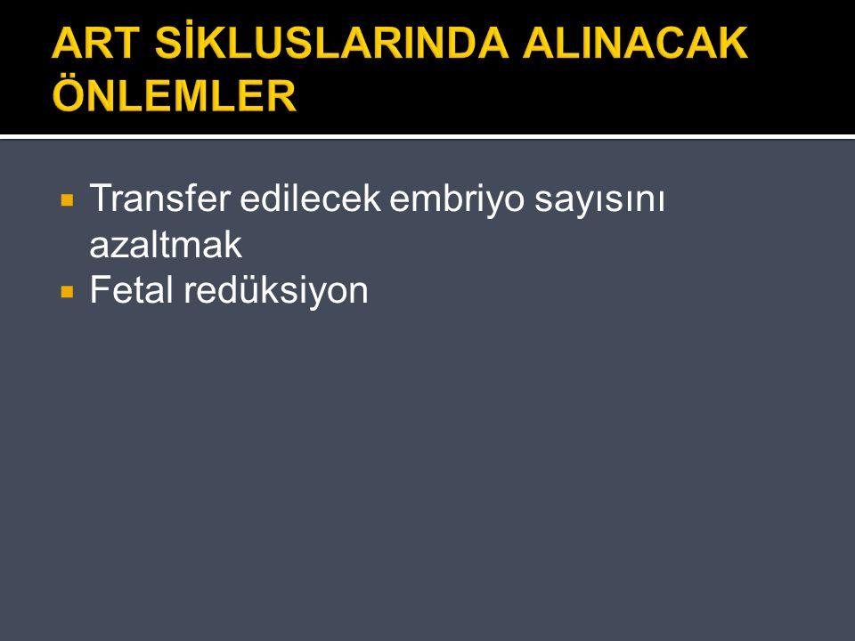 ART SİKLUSLARINDA ALINACAK ÖNLEMLER