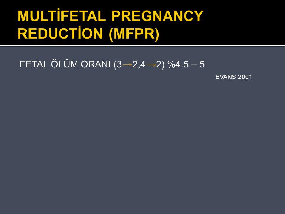 MULTİFETAL PREGNANCY REDUCTİON (MFPR)