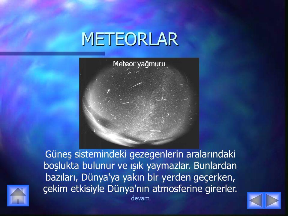 METEORLAR Meteor yağmuru.
