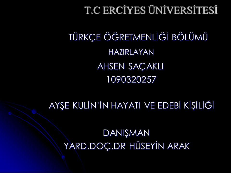 T.C ERCİYES ÜNİVERSİTESİ