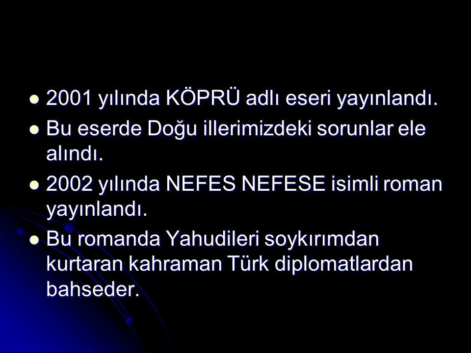 2001 yılında KÖPRÜ adlı eseri yayınlandı.