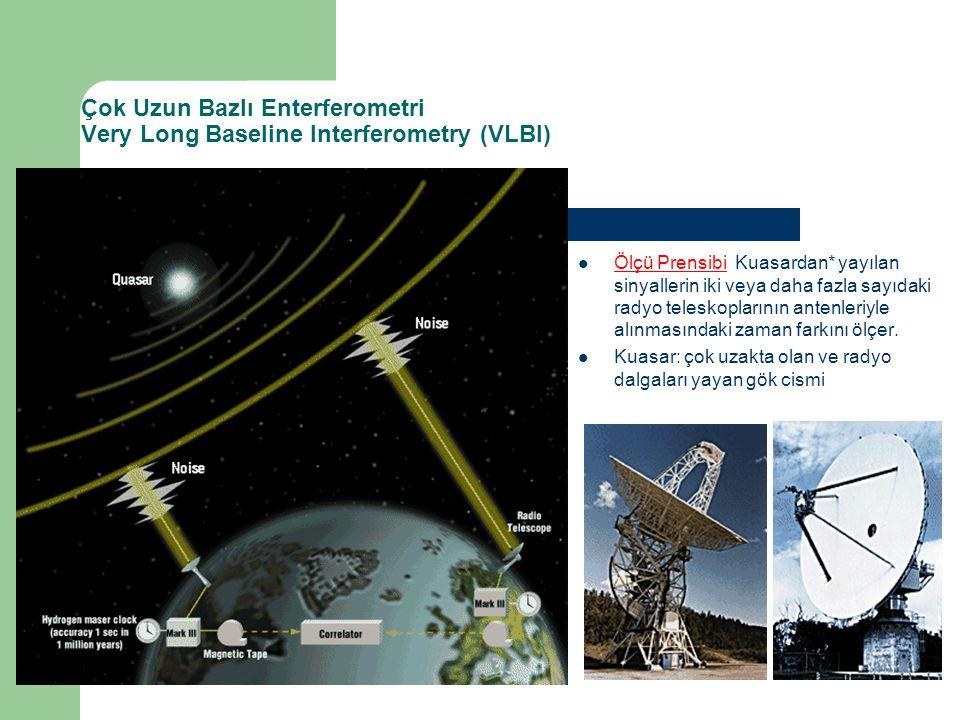 Çok Uzun Bazlı Enterferometri Very Long Baseline Interferometry (VLBI)