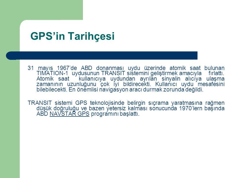 GPS'in Tarihçesi