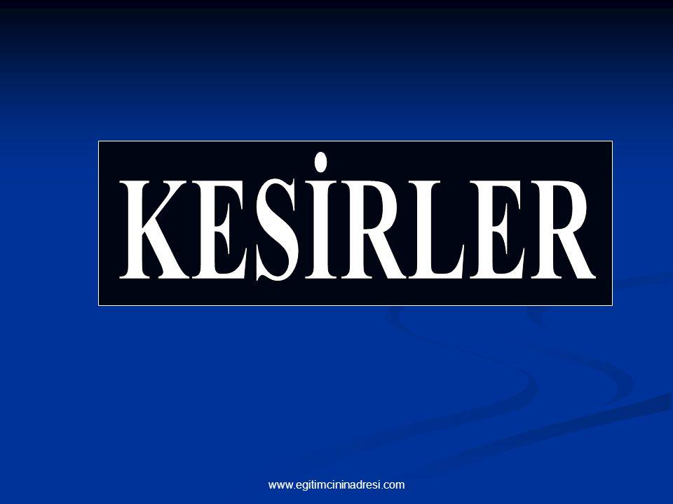 KESİRLER www.egitimcininadresi.com