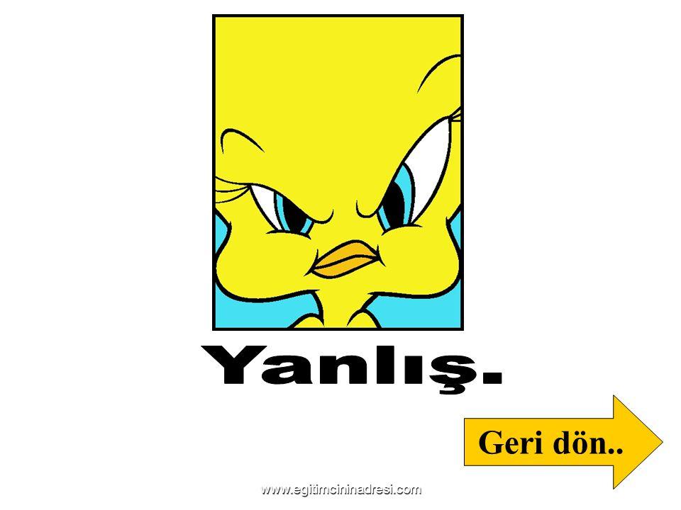 Yanlış. Geri dön.. www.egitimcininadresi.com