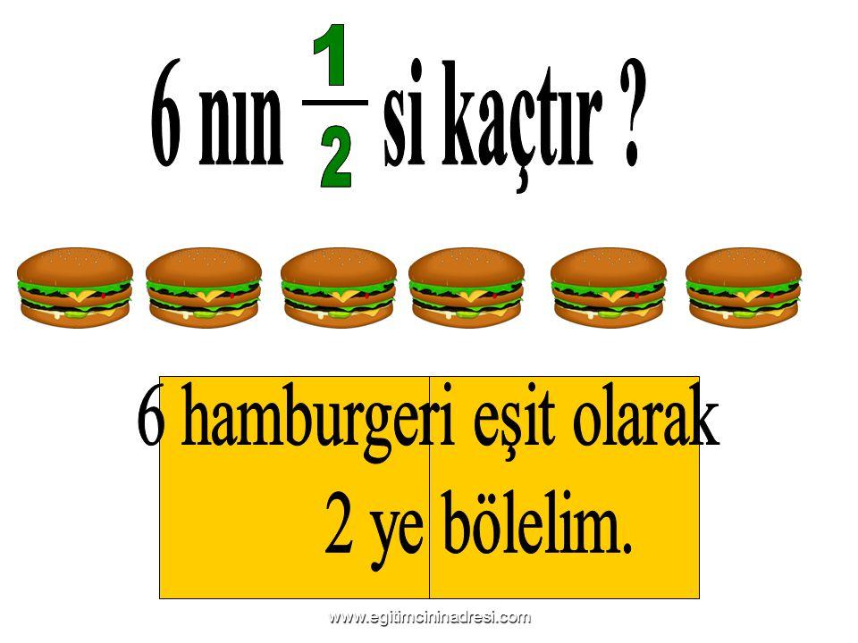 6 hamburgeri eşit olarak