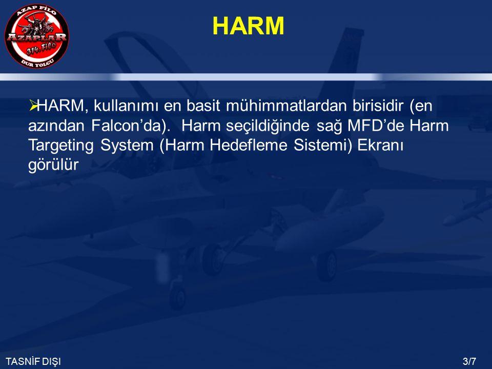 HARM, kullanımı en basit mühimmatlardan birisidir (en azından Falcon'da).