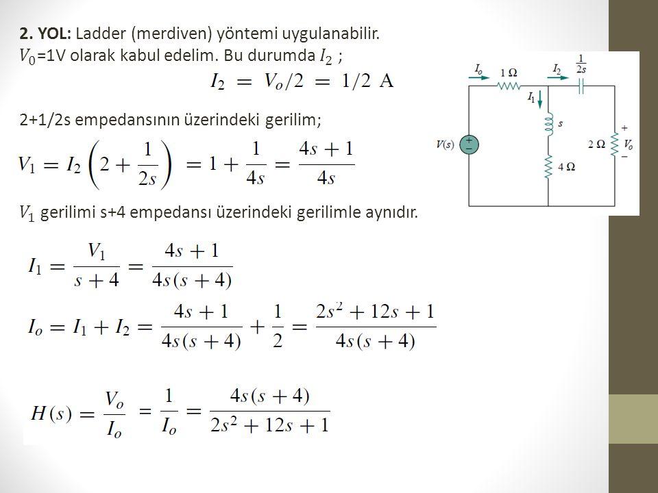 2. YOL: Ladder (merdiven) yöntemi uygulanabilir.