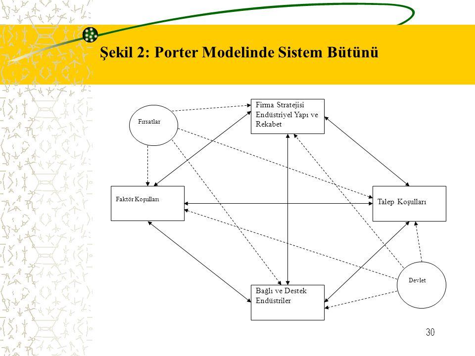 Şekil 2: Porter Modelinde Sistem Bütünü