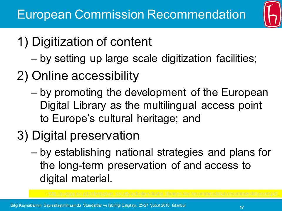 European Commission Recommendation