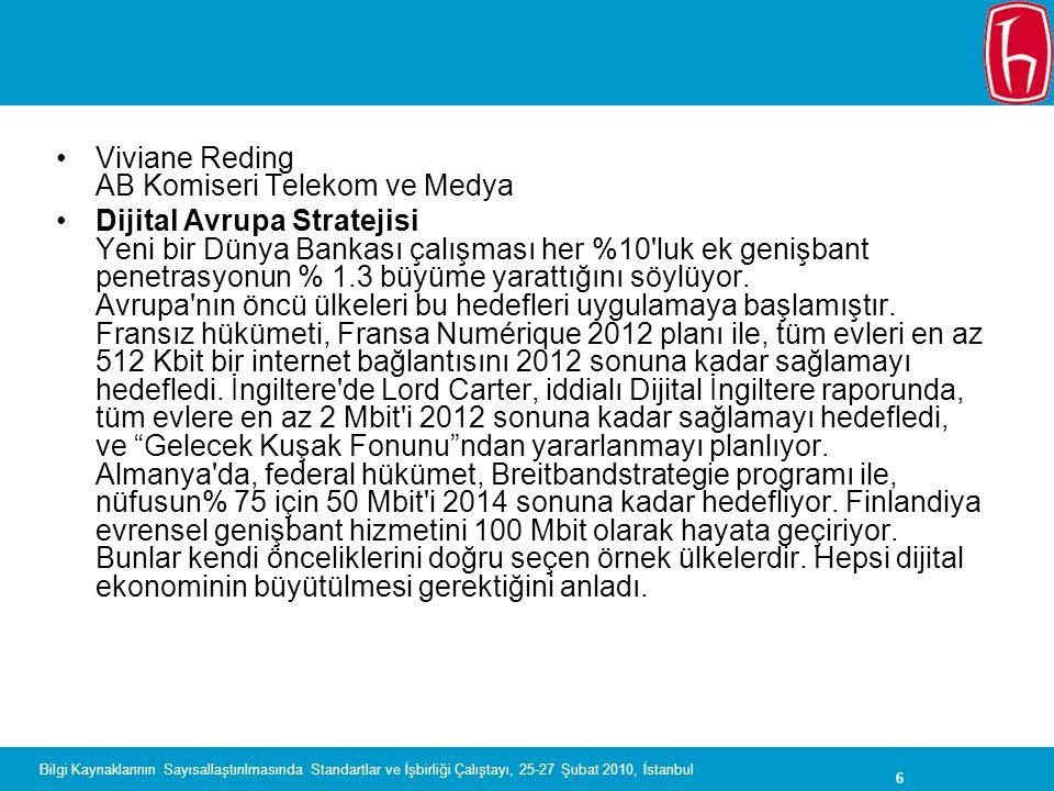Viviane Reding AB Komiseri Telekom ve Medya