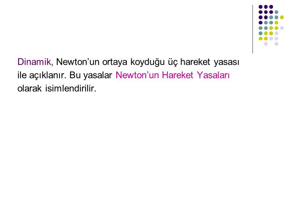 Dinamik, Newton'un ortaya koyduğu üç hareket yasası
