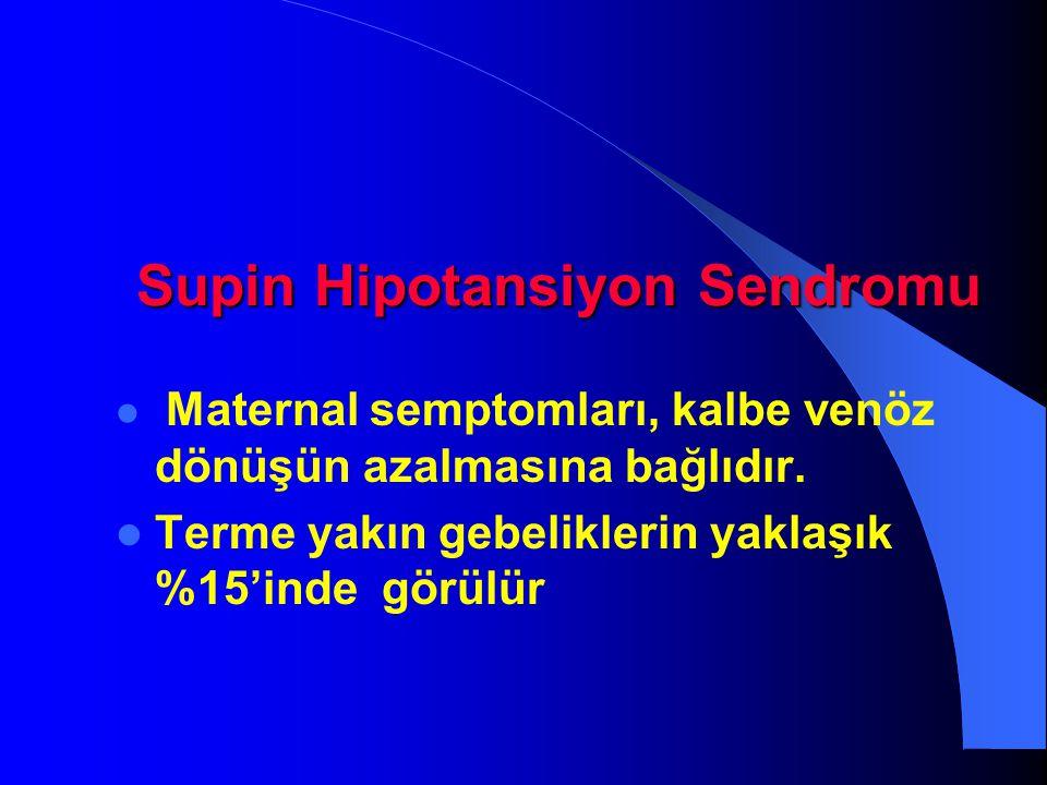 Supin Hipotansiyon Sendromu