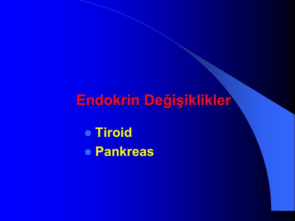Endokrin Değişiklikler