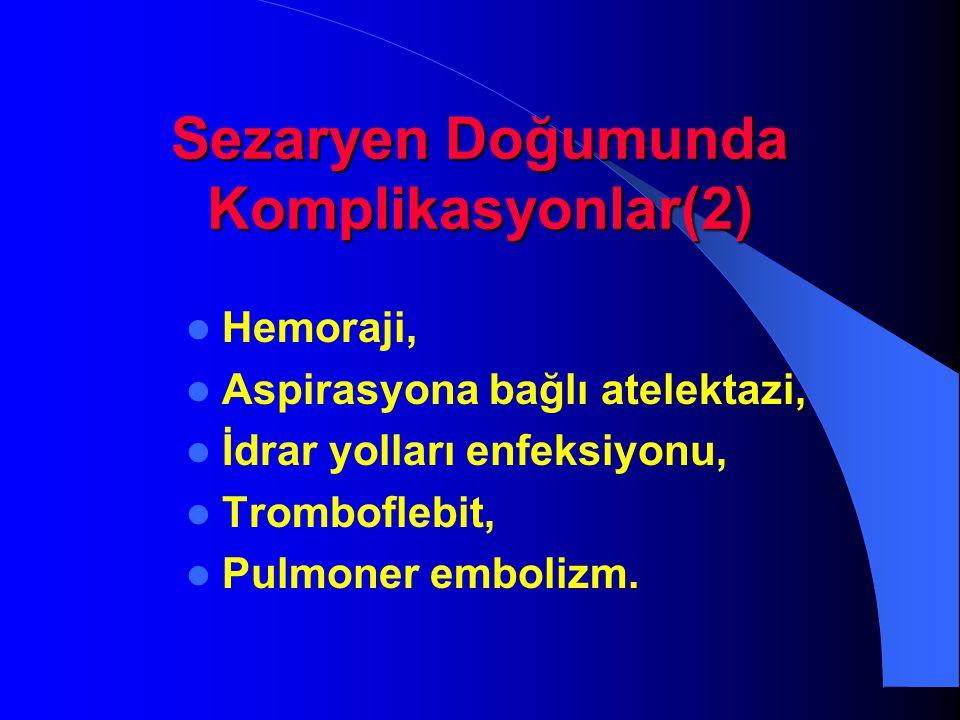 Sezaryen Doğumunda Komplikasyonlar(2)