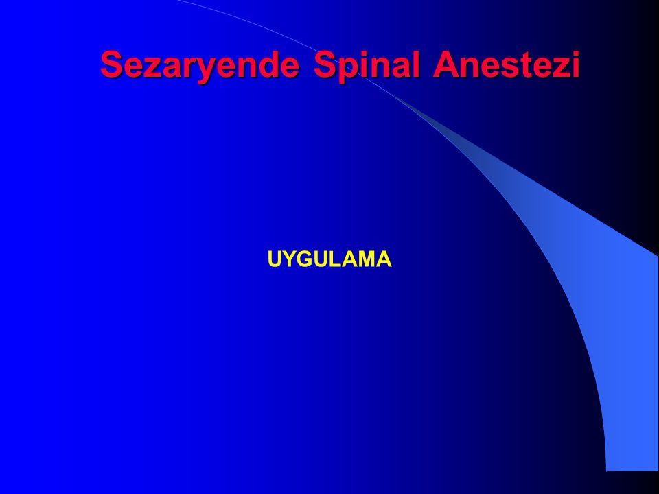 Sezaryende Spinal Anestezi