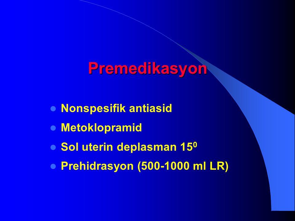 Premedikasyon Nonspesifik antiasid Metoklopramid