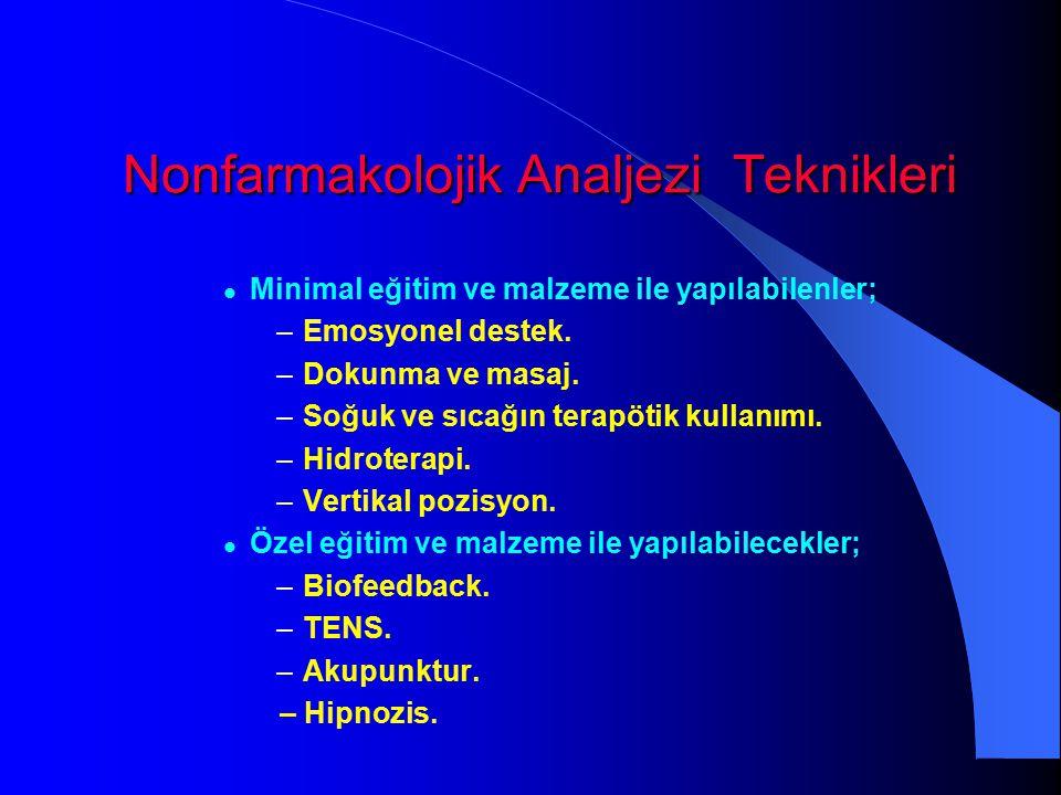 Nonfarmakolojik Analjezi Teknikleri