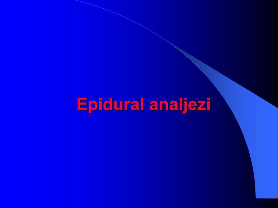Epidural analjezi