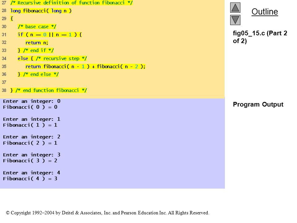 fig05_15.c (Part 2 of 2) Program Output