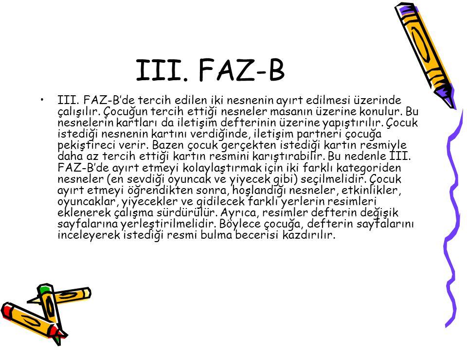 III. FAZ-B