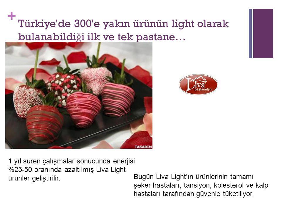 Türkiye de 300 e yakın ürünün light olarak bulanabildiği ilk ve tek pastane…
